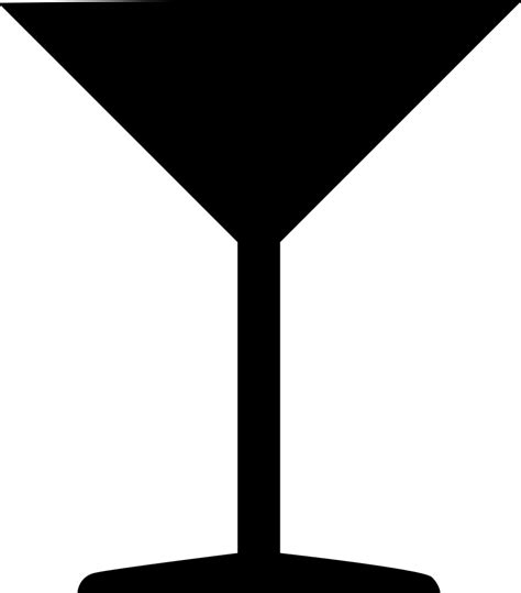cocktail silhouette file coctail glass svg wikimedia commons