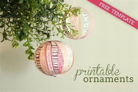 diy tutorial free printable paper christmas ornaments