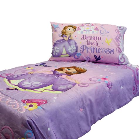 disney princess toddler bed set disney sofia first toddler bedding set princess scrolls bed ebay