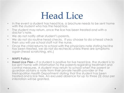 Parent Letter Lice communicable disease and student health related issues