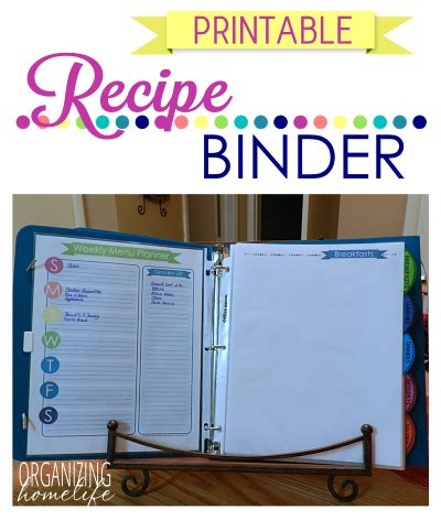 printable recipe binder brand new orchid duo binder giveaway organizing homelife
