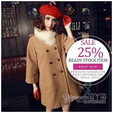 Ready Stock Import Coat 17296 coat import wanita korea style woolen coat jyg175113 coat korea