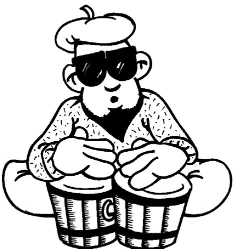 coloring pages drummer boy drums drummer coloring pages bongo drum player