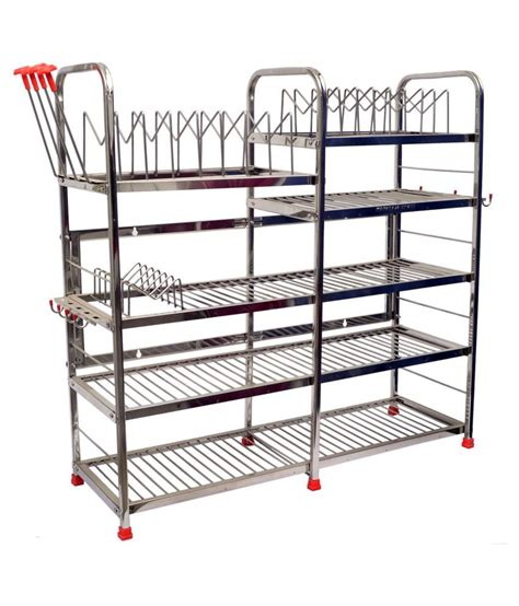 Get Racks Maharaja Stainless Steel Smart Modern Kitchen Rack Stand
