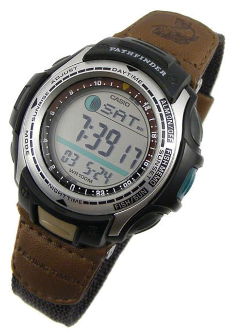 sports outdoors watches casio pathfinder fishing timer