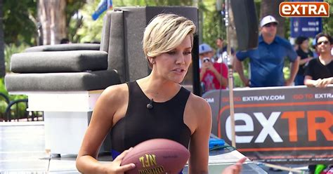 charissa thompson new haircut on extra tv rob gronkowski takes on extra s charissa thompson in