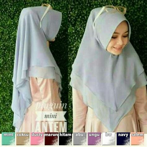 Khimar Mini Pinguin Pet Antem jilbab instan khimar pinguin mini antem model sekarang
