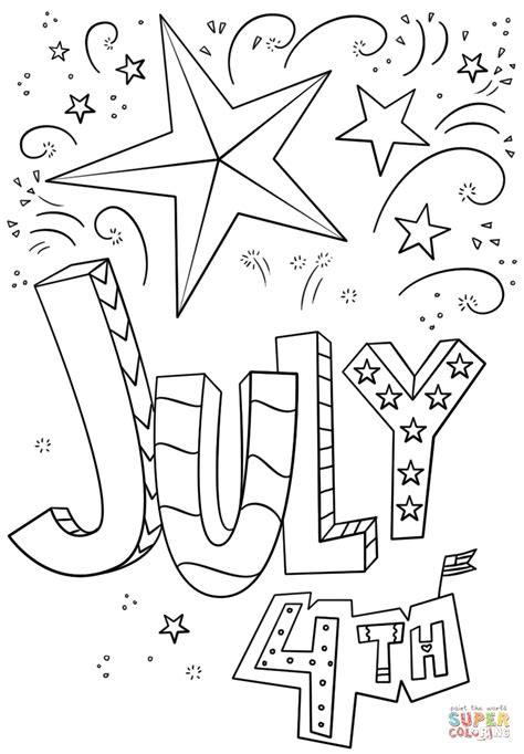 4th of july coloring pages free to print 7062
