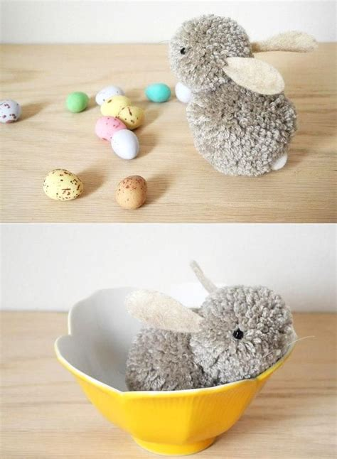 Mason Jar Home Decor Ideas by Diy Pom Pom Bunny Easy Easter Party Amp Craft Decoration