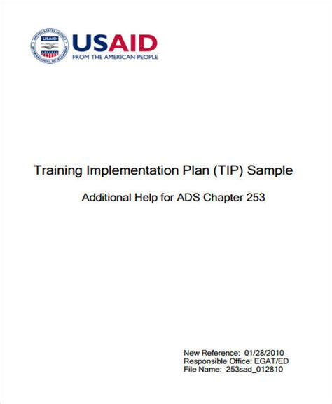 usaid business plan format 7 implementation plan sles templates pdf doc