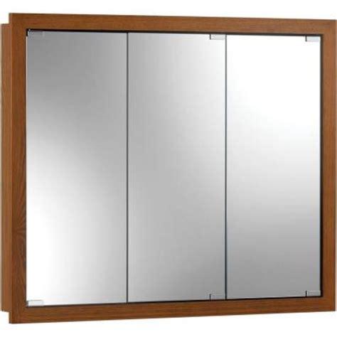 36 X 30 Medicine Cabinet granville 36 in w x 30 in h x 4 75 in d surface mount medicine cabinet in honey oak 740647x