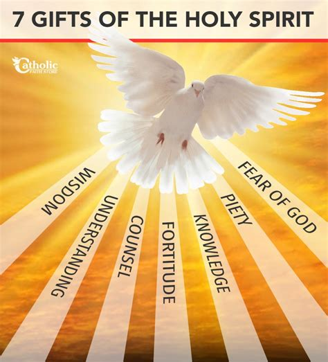 7 fruits of the holy spirit and their meanings seven gifts of the holy spirit catholic faith store