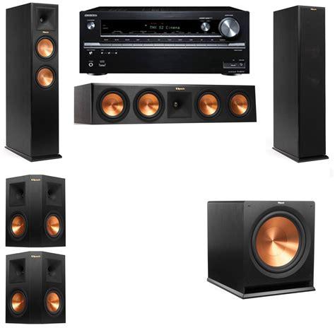 cheap klipsch rp  tower speakers  onkyo tx nr