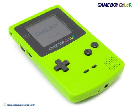 gameboy color console neongreen green kiwi lime