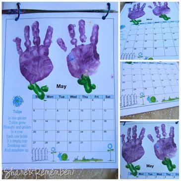 handprint calendar template handprint calendar template