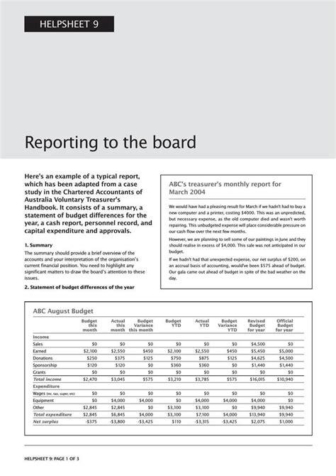 Board Report Template Word Board Report Template Free Premium Templates