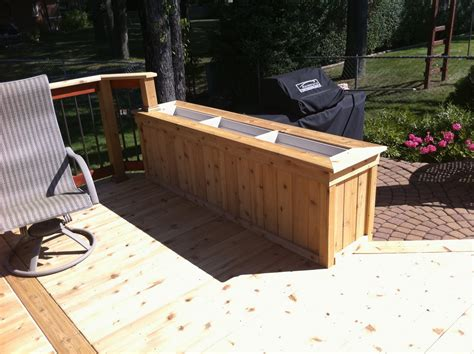How To Build Planter Boxes For Decks by A Of Cedar Decks Autumnwoodconstruction S