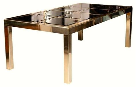 Dining Table Mirror Price Mastercraft Bronze Mirror And Brass Dining Table At 1stdibs