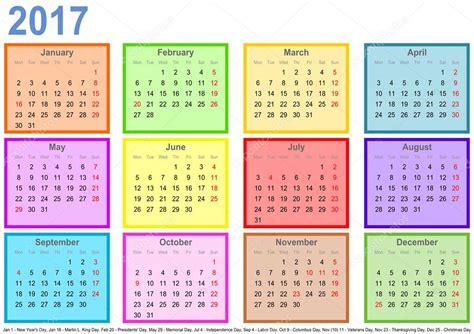 Calendrier 2017 Jour Par Jour Calendrier 2017 Avec Des Chs Color 233 S Par Mois Et Les