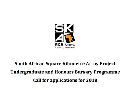 Mba Bursaries 2018 South Africa by South Square Kilometre Array Project Undergraduate