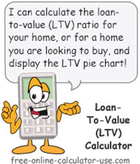 loan to value calculator with dynamic pie chart