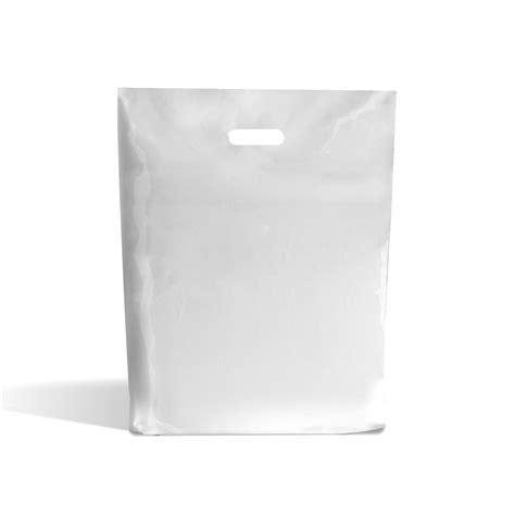 Handle Plastik Knob Karet Ukuran 3000 white patch handle plastic bags branded bags carrier