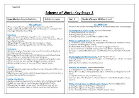 detailed gymnastics floorwork unit of work yr 7 lesson plans detailed scheme of work gym year 8 by chelle121 uk