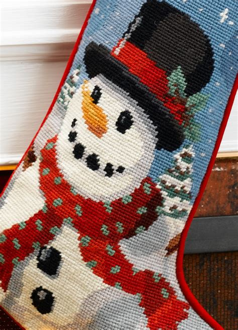 needlepoint patterns for christmas stockings needlepoint personalized christmas stocking frosty