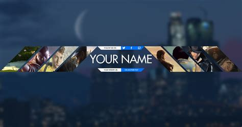 Gamers Youtube Banner Template Psd Photoshop Cc Cs6 Free Download 2017 Bee Creative Gaming Banner Template Psd