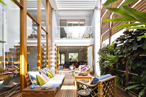 Interior Courtyard Floor Plans A Lush Sydney Eco House Built Around A Living Courtyard