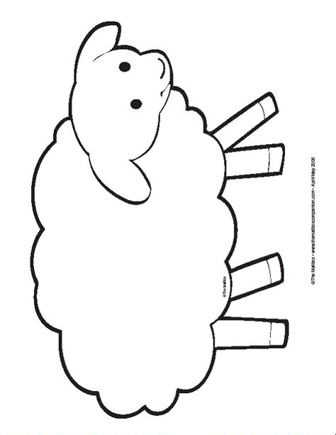 printable sheep template sheep printable www imgkid the image kid has it