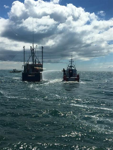fishing boat off nantucket dvids images coast guard battles fishing vessel fire