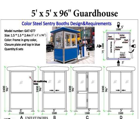 guard house design layout prefabricated guard house guard booth guard shack