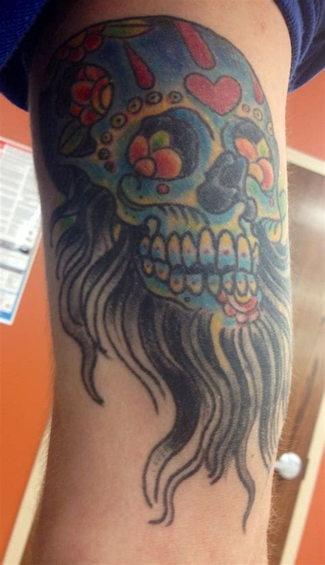 bearded skull tattoo bearded sugar skull tattoos sugar skull