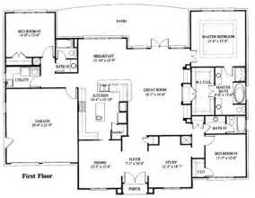 One Story House Floor Plans by Simple One Story House Plan Dreams Pinterest