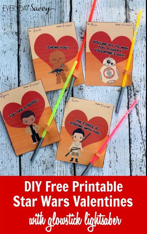 printable star wars glow stick valentines diy printable star wars valentines cards with glowstick