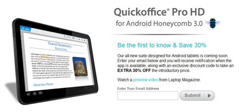 quickoffice pro for android quickoffice hd for honeycomb tablets about to drop sign up for 30 androidpit