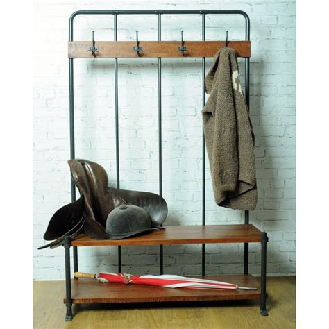 smith bench vintage entryway coat rack and bench seat industrial style
