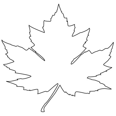 Canada Maple Leaf Outline by Free Coloring Pages Of Maple Leaf Canadian Flag