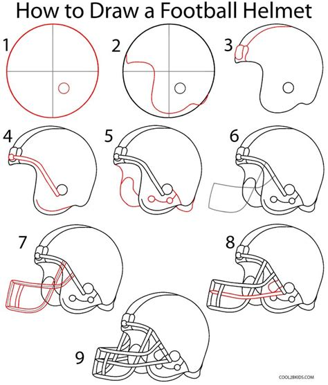 How To Make A Paper Football Helmet Step By Step - how to draw a football helmet step by step drawing