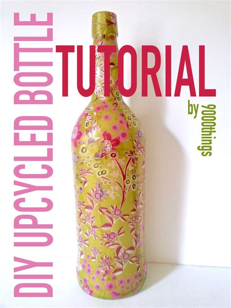 tutorial decoupage botol 9000things diy decoupage bottle tutorial 187 9000things a