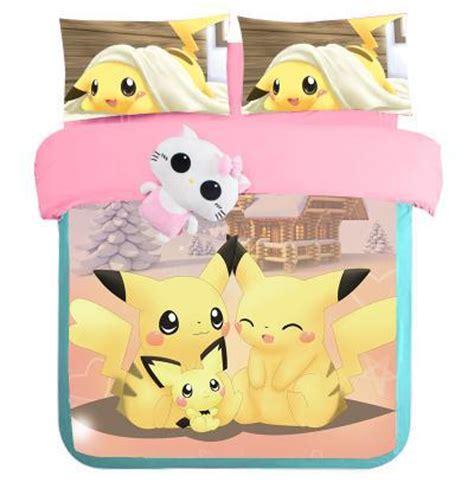 pikachu comforter set pokemonkids pikachu bedding kawaii bedding comforter cover