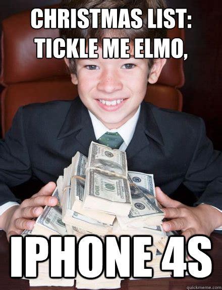 Tickle Memes - christmas list tickle me elmo iphone 4s spoiled rich