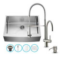 30 In Kitchen Sink Vigo Vg15274 Vigo All In One 30 Inch Farmhouse Stainless Steel Kitchen Sink And Faucet Set Atg
