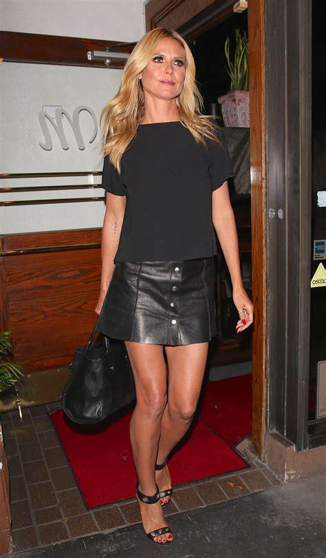 High Heels Original Blackkelly 133 heidi klum leather mini skirt leather