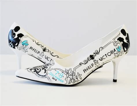 custom wedding sneakers custom painted wedding shoes bridal shoes