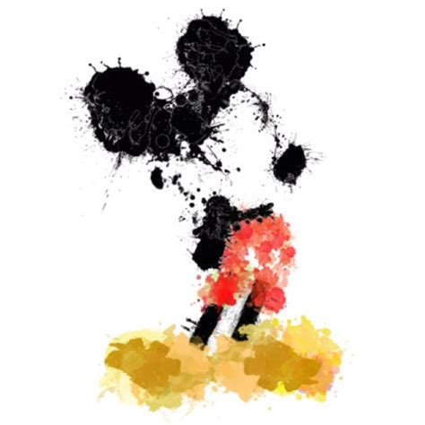 mickey mouse painting mickey mouse splatter mickey artworks