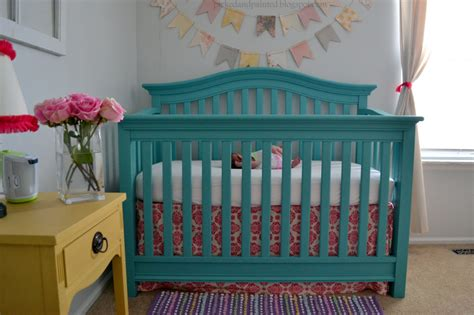 Painted Cribs by Millie S Teal Yellow Nursery Project Nursery