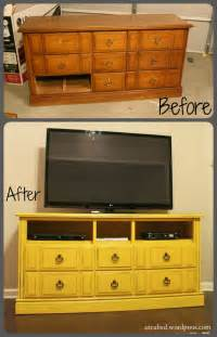Diy Dresser Into Entertainment Center by Diy Dresser Turned Tv Console With Tutorial Domestic