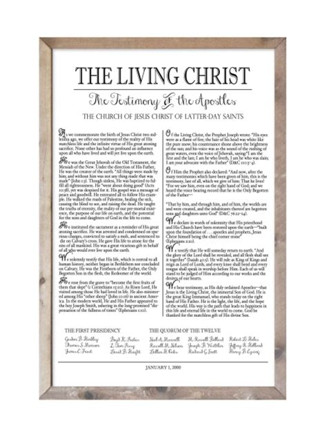 lds the living christ the testimony of the apostles the living christ the woods barn